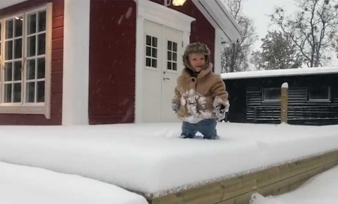 Första snön har redan kommit i Norrbotten.