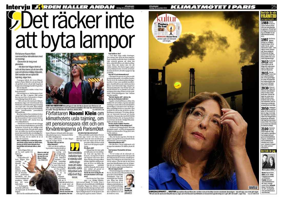 Aftonbladet den 29 november 2015.