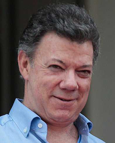 Juan Manuel Santos, Colombias president. Foto: AP