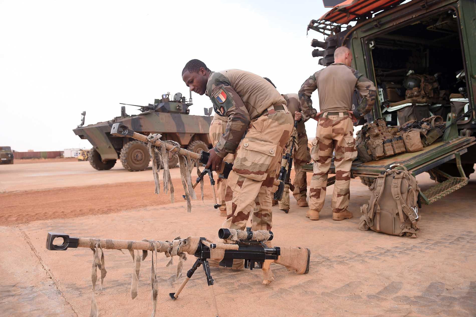 Franska soldater vid operation Barkhane, Frankrikes militärinsats i Sahelregionen. Arkivbild.