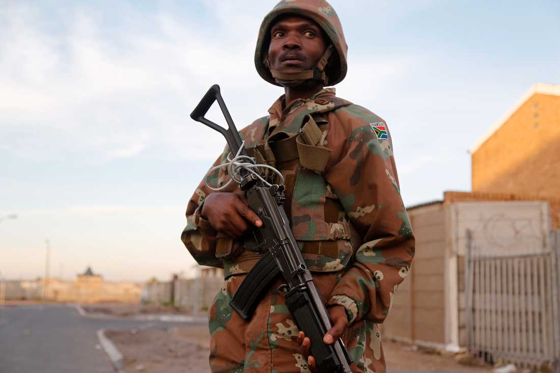 Sydafrika sätter in hundratals soldater för att bekämpa gängvåld i Kapstaden. Arkivbild.