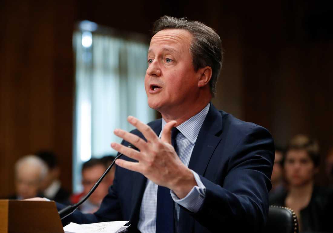 Storbritanniens ex-premiärminister David Cameron ångrar inte brexitomröstningen. Arkivbild från mars 2018.