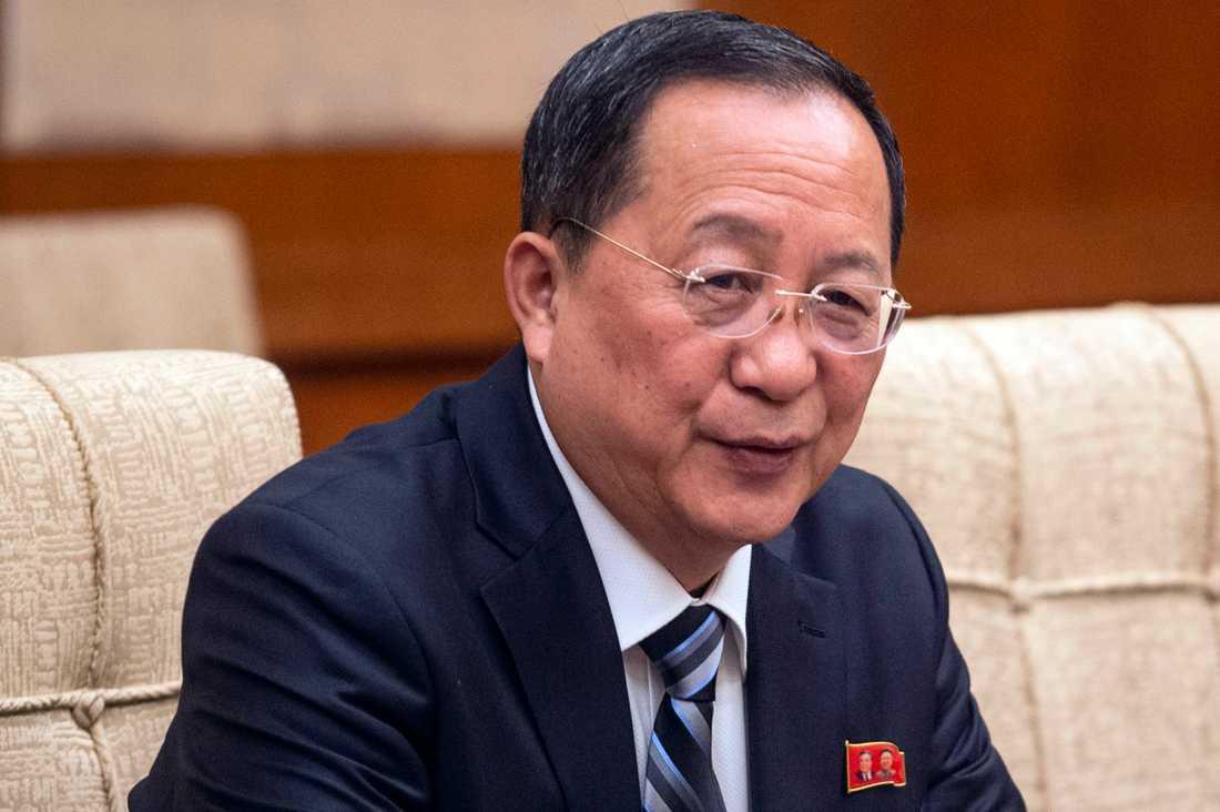 Nordkoreas utrikesminister Ri Yong-Ho, här på en bild från december i fjol.