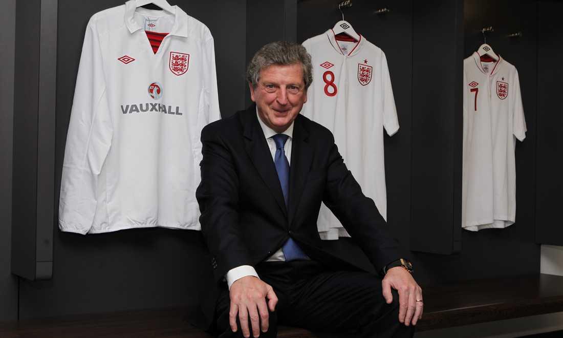 Hodgson i Englands omklädningsrum på Wembley.