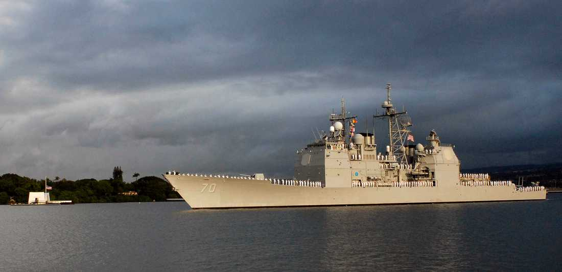 USS Lake Erie får inte besöka Hongkong. Arkivbild.