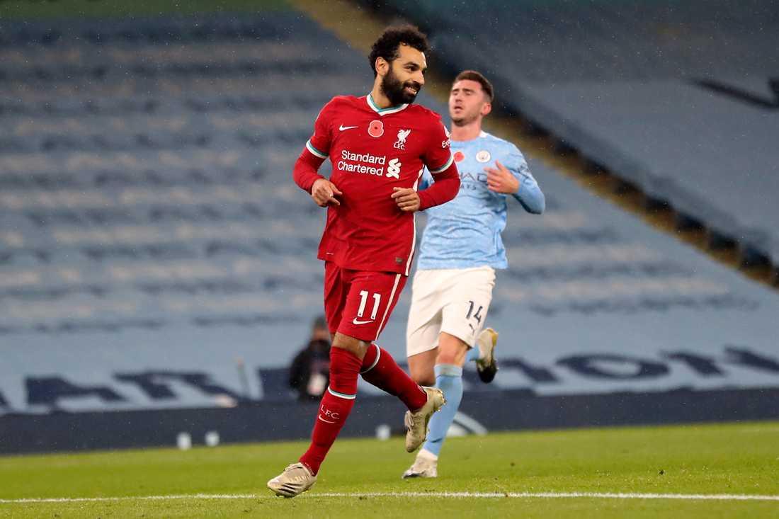 Mohamed Salah sitter isolerad i Egypten och riskerar att missa Liverpools match mot Leicester. Arkivbild.