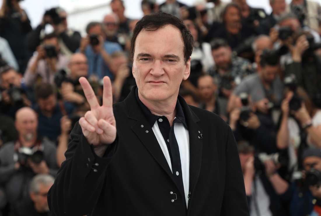 Quentin Tarantino på filmfestivalen i Cannes.