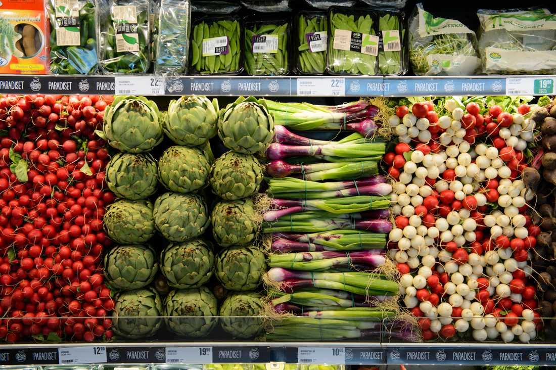Ekologiska grönsaker kanske inte är fullt så klimatsmarta som du tror. Arkivbild.