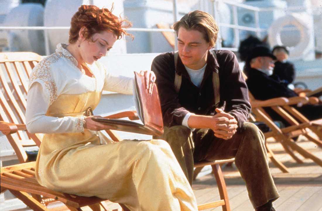 """I """"Titanic"""" spelar Kate och Leonardo kärleksparet Rose och Jack."""
