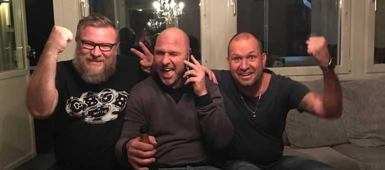 Tre av vinnarna under lördagen: Patric, Robban och Stefan.