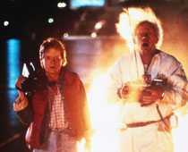 Michael J. Fox och Christopher Lloyd.