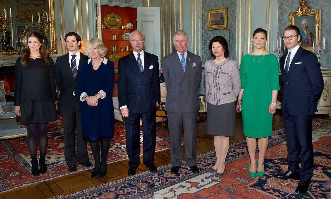 Prins Charles och Camilla är på Sverigebesök. På fredagen åt de lunch på slottet.