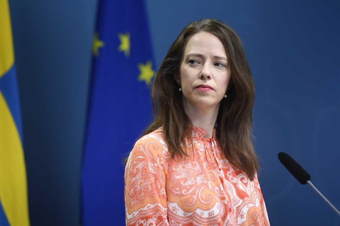 Åsa Lindhagen (MP) jämställdhetsminister.