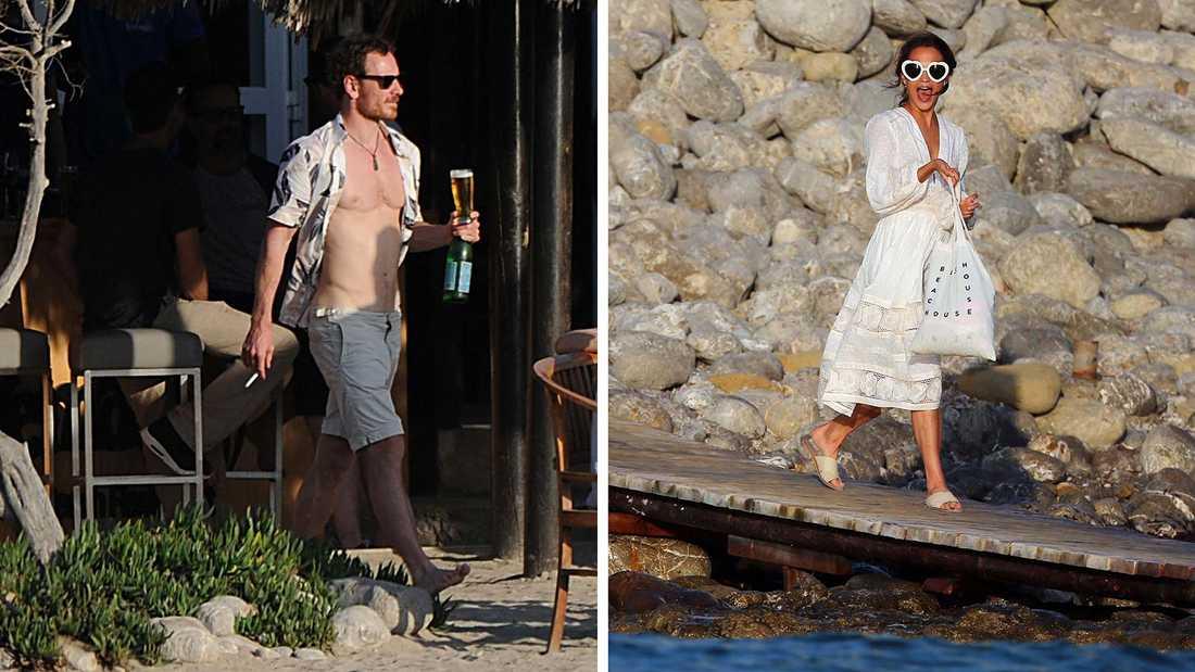Michael Fassbender och Alicia Vikander på Ibiza.