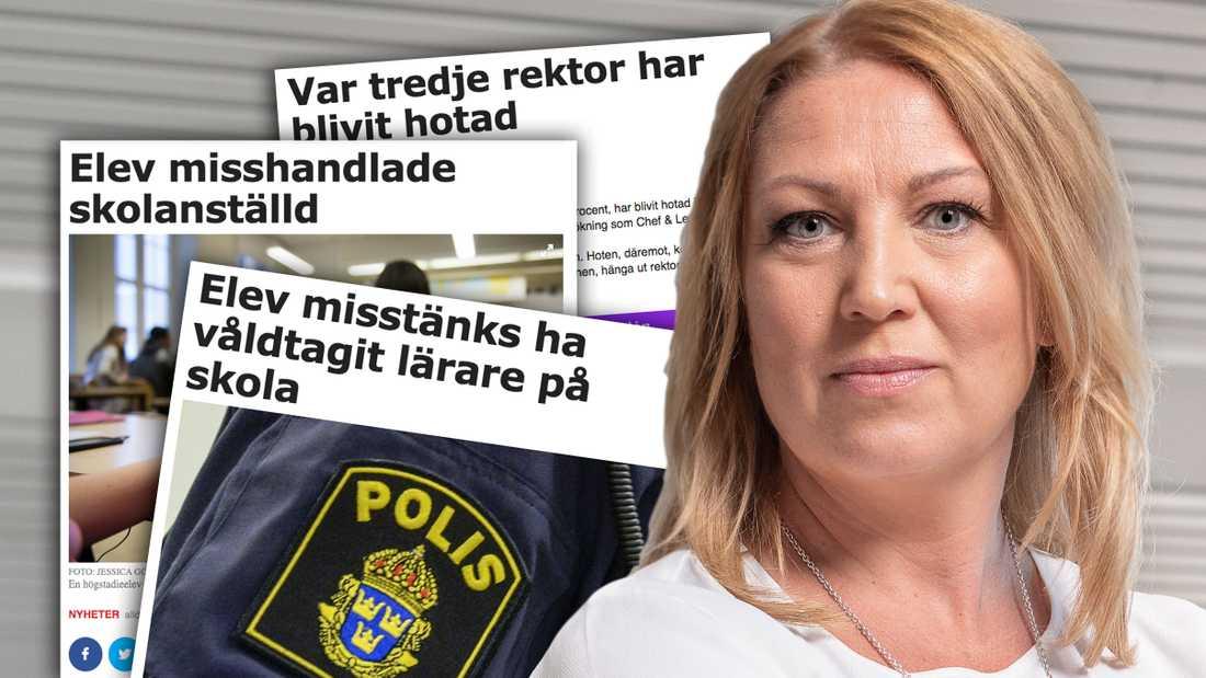 Mer måste göras för att pressa tillbaka våldet och skapa en god arbets- och lärmiljö i skolan, skriver Johanna Jaara Åstrand.