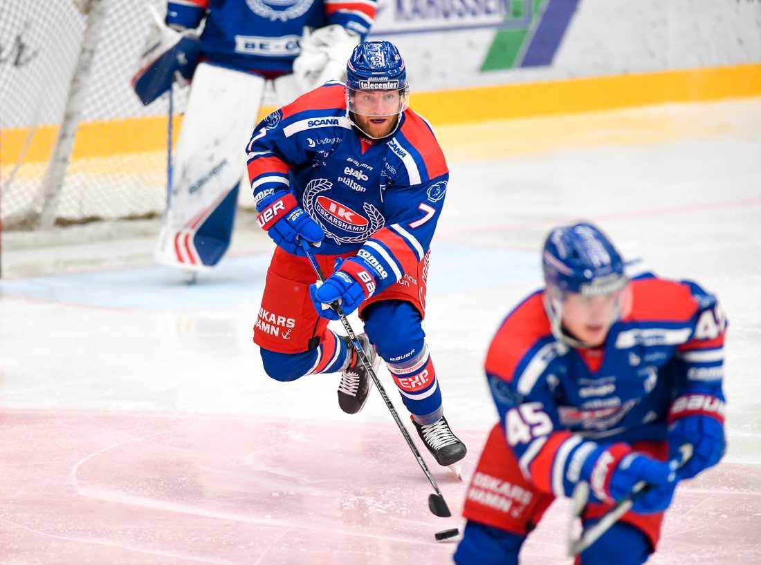 Hemmapubliken i Oskarshamn, som tittar på Adam Janosik och de andra SHL-spelarna, kan nekas i dörren till hemmaarenan. Arkivbild.