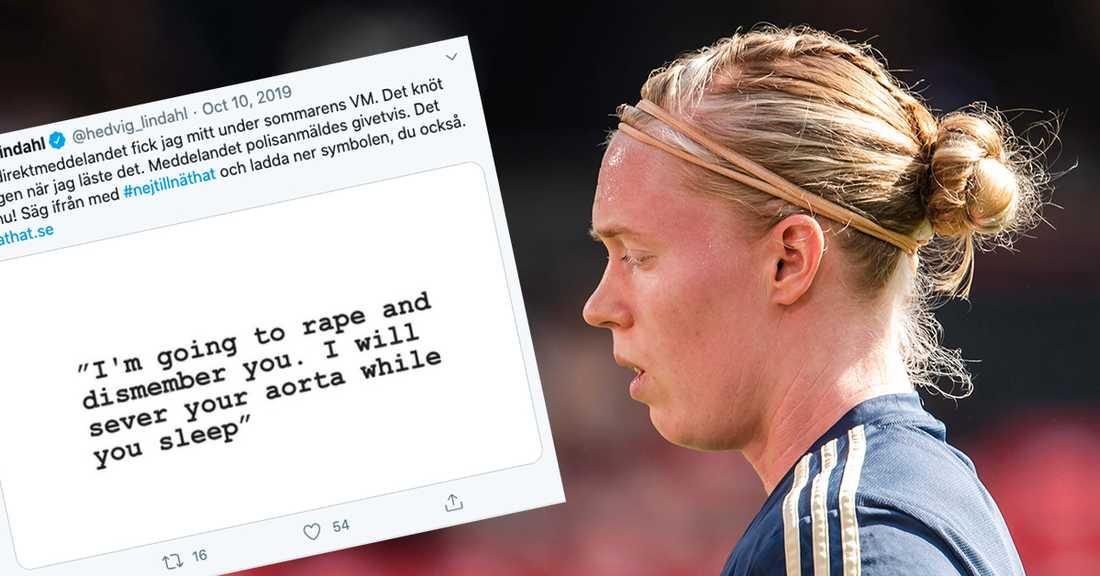 Efter bragdmatchen mot Tyskland i VM 2019 mordhotades landslagsstjärnan Hedvig Lindahl.