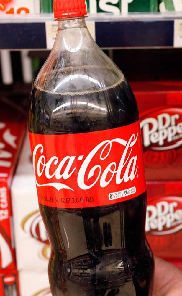 En flaska Coca-Cola.