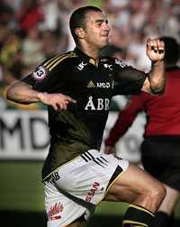målskytt x 2 Arash Talebinejad frälste AIK med två mål.
