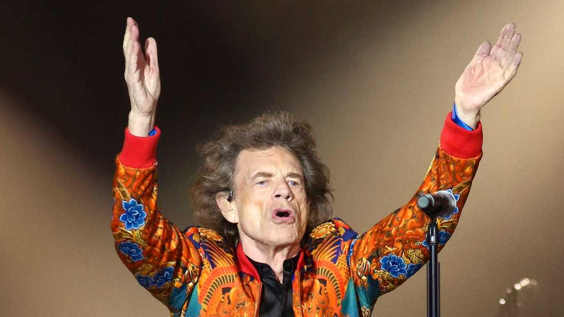 Mick Jagger på Metlife Stadium i New Jersey.