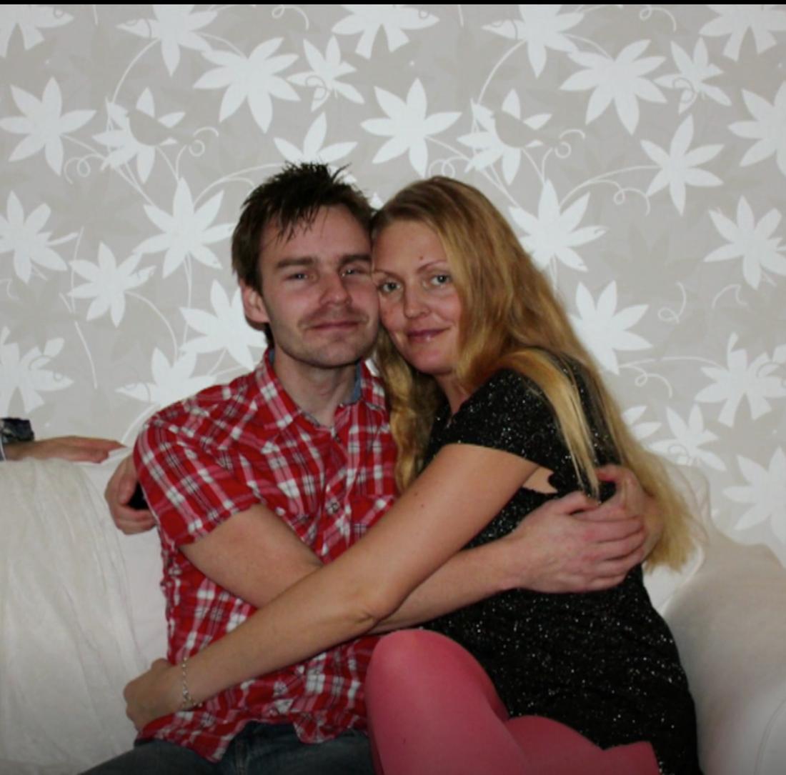 Peter och hustrun Jessica.