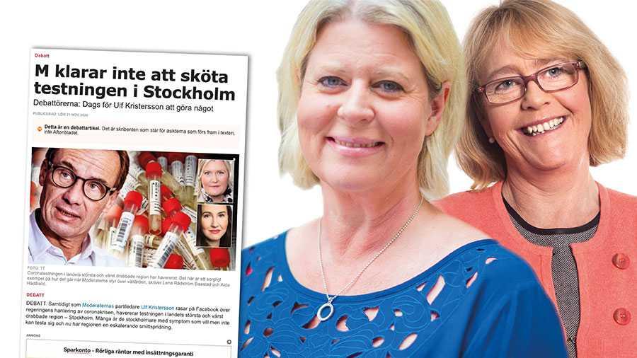 Att som Rådström Baastad och Hadžialić påstå att det bara handlar om att regeringen betalar och regionerna utför är direkt felaktigt. Både staten och regionerna måste dra sitt strå till stacken för att öka testningen i landet, skriver Camilla Waltersson Grönvall och Irene Svenonius.