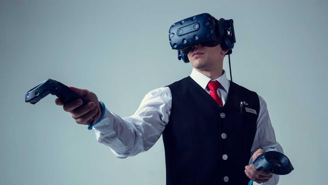 SJ utbildar sin personal med hjälp av virtuell verklighet (VR).
