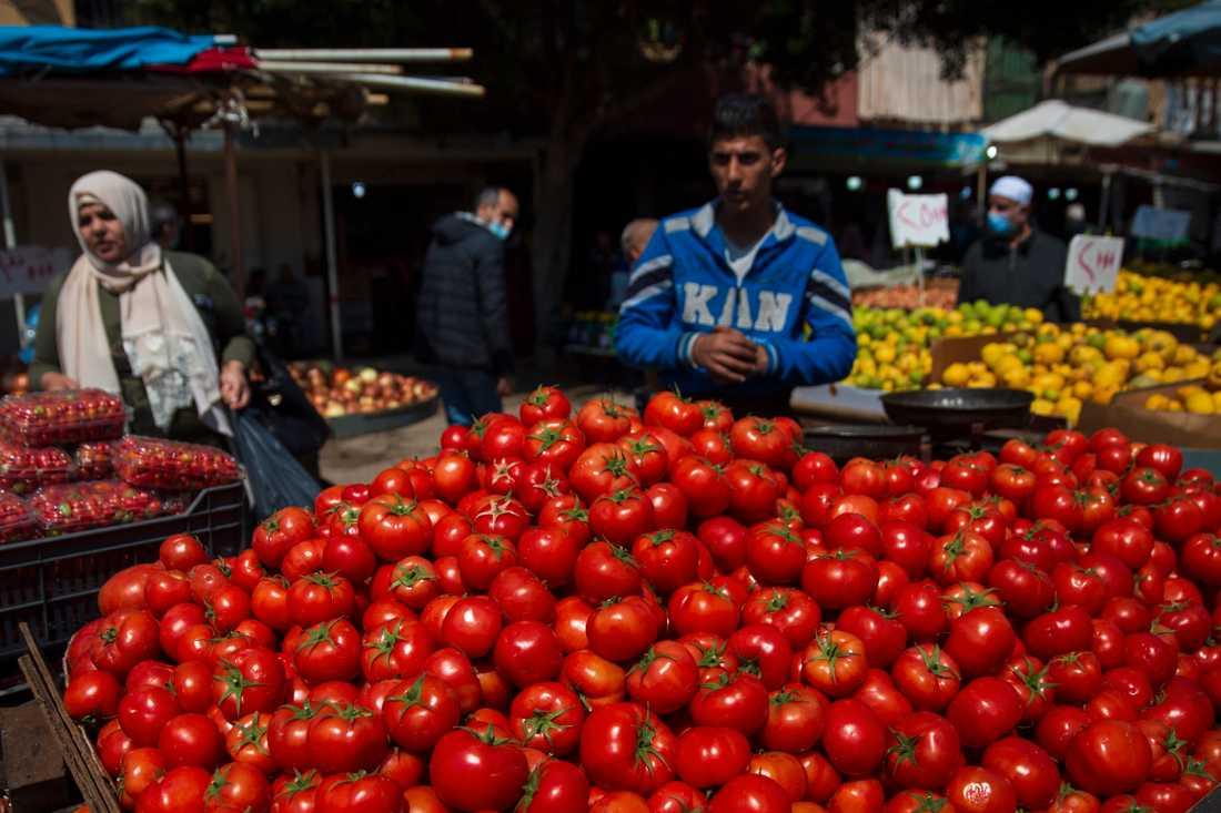 Export av frukt och grönsaker från Libanon stoppas av Saudiarabien. Arkivbild.