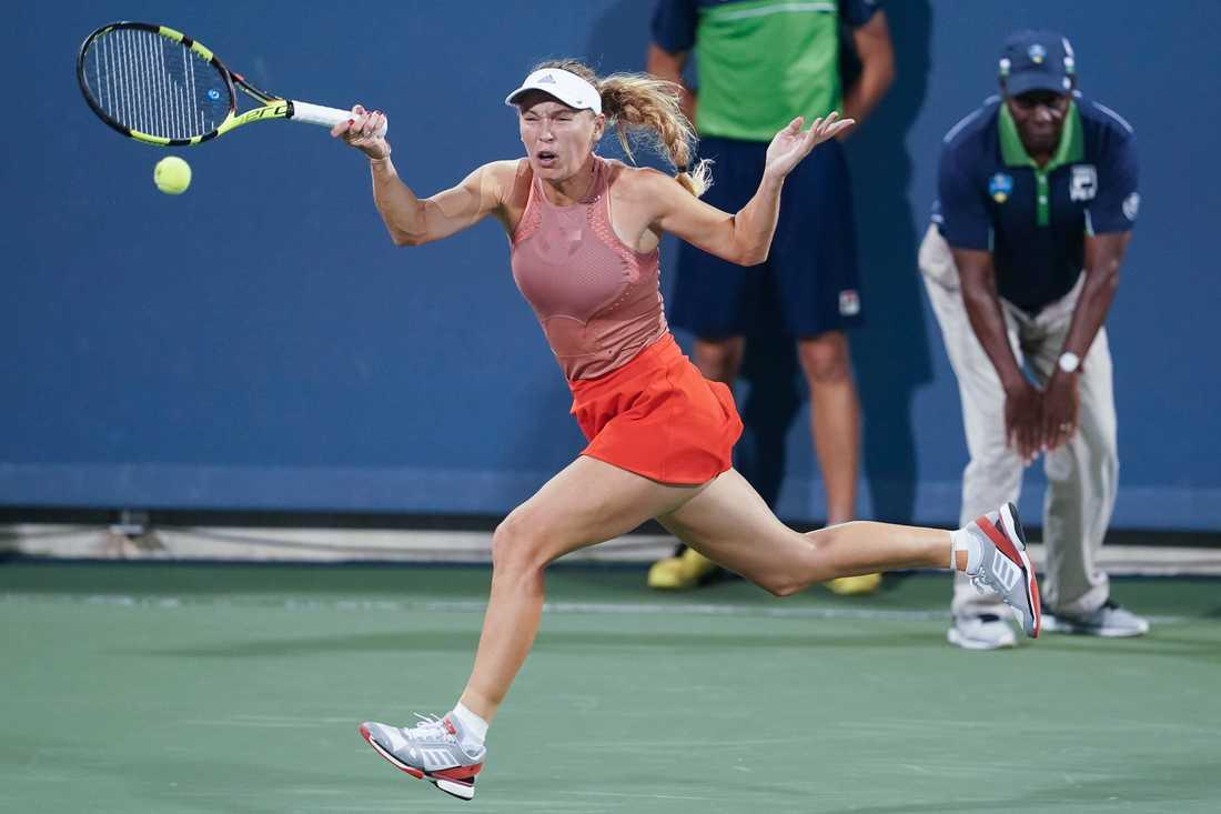 Caroline Wozniacki avbröt tennismatchen mot Kiki Bertens i Cincinnati, en och en halv vecka innan US Open.