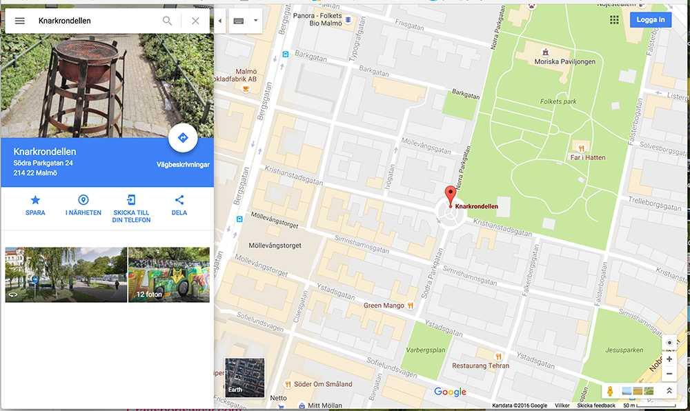 """""""Knarkondellen"""" går att hitta via Google maps"""