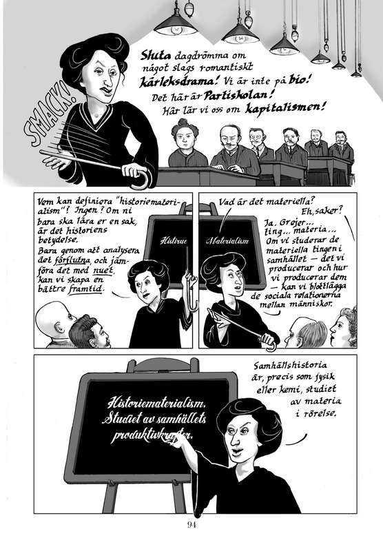 """Rosa Luxemburg i serieboken """"Röda Rosa""""."""