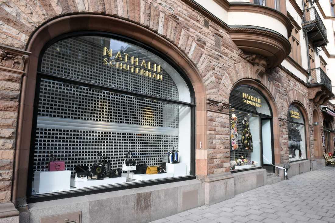 Lyxbutiken Nathalie Schuterman på Birger Jarlsgatan i Stockholm.