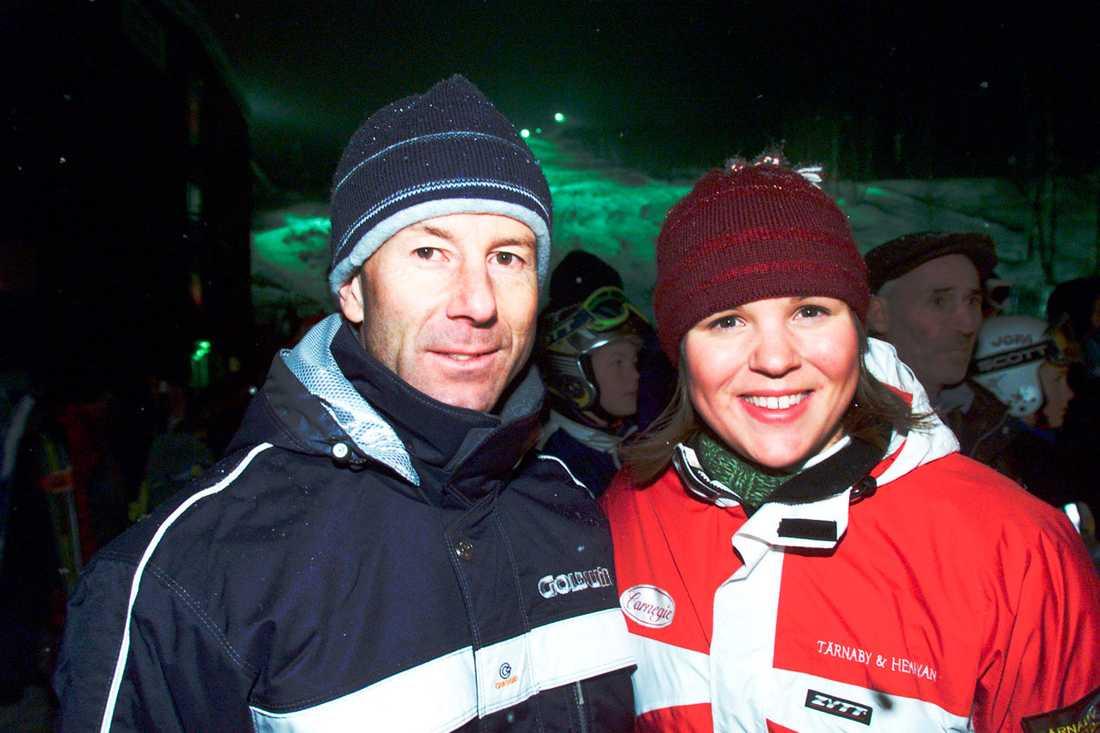 2000 Anja med legendaren Ingemar Stenmark.