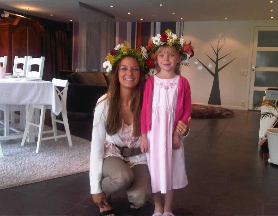 Per-Inge Kruse skickar den här bilden på midsommar i Torslanda.