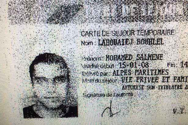Körkortet för den utpekade gärningsmannen Mohamed Lahouaiej Bouhlel, 31.