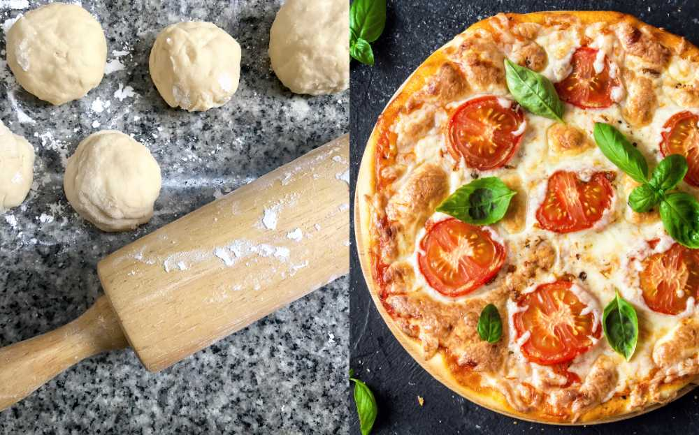 pizzadeg utan vetemjöl och jäst