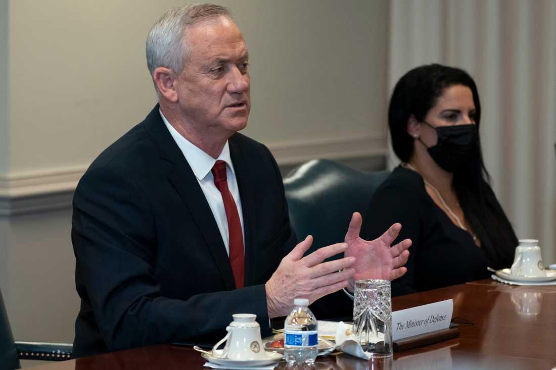 Israels försvarsminister Benny Gantz. Arkivbild.
