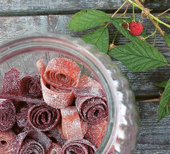 Äkta hallongodis – går också bra att byta ut hallonen mot annan frukt eller bär.