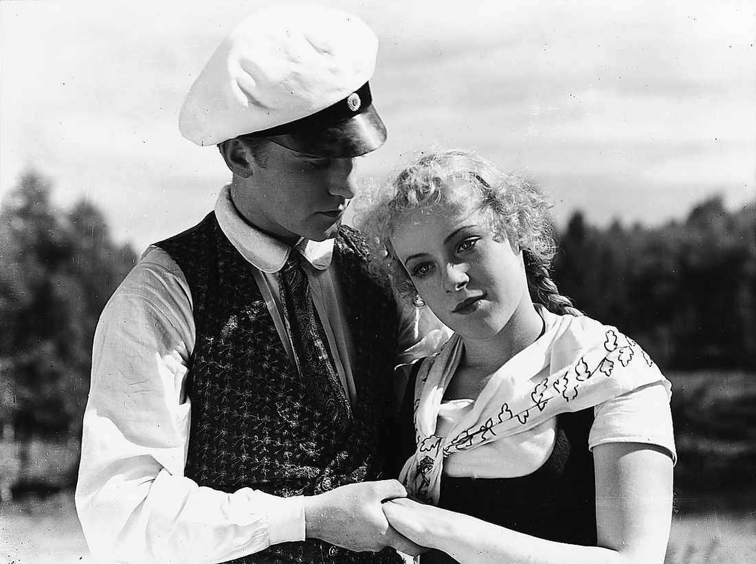 """""""Värmlänningarna"""" Film från 1932 med bland andra Gösta Kjellertz."""