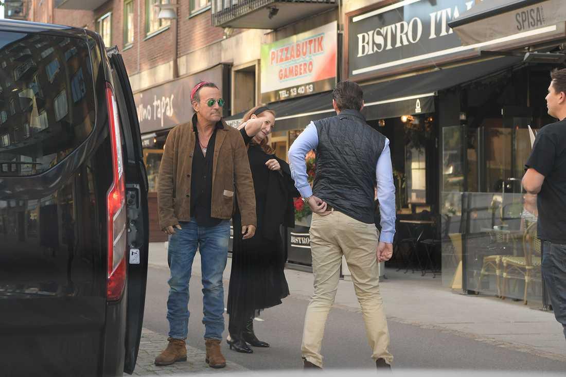 Bruce Springsteen tog sig till en restaurang i Haga, Göteborg.