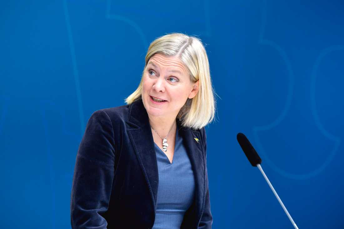 Magdalena Andersson var tydlig med att omställningsstödet är just detta, och inte ett sätt att hålla företag under armen.