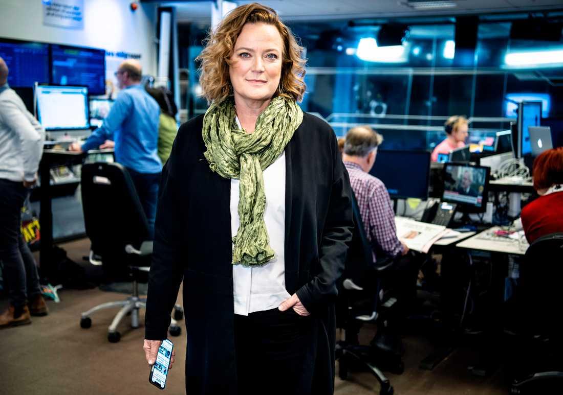 Aftonbladets chefredaktör Lena K Samuelsson.