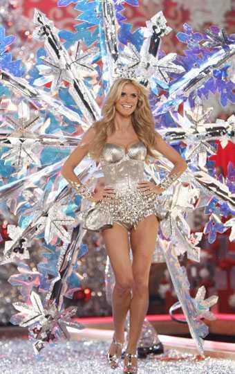 Behöver man gissa vem som är största stjärnan? Heidi Klum glittrade som vanligt.