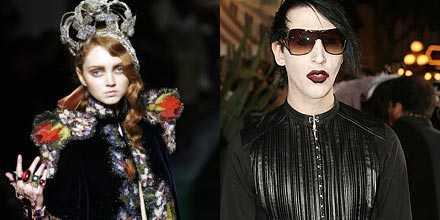 Lily Cole spelar Alice och Marilyn Manson spelar Lewis Carrol.