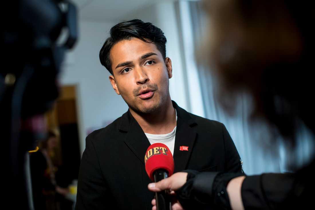 Philip Botström, ordförande i Socialdemokraternas ungdomsförbund SSU.