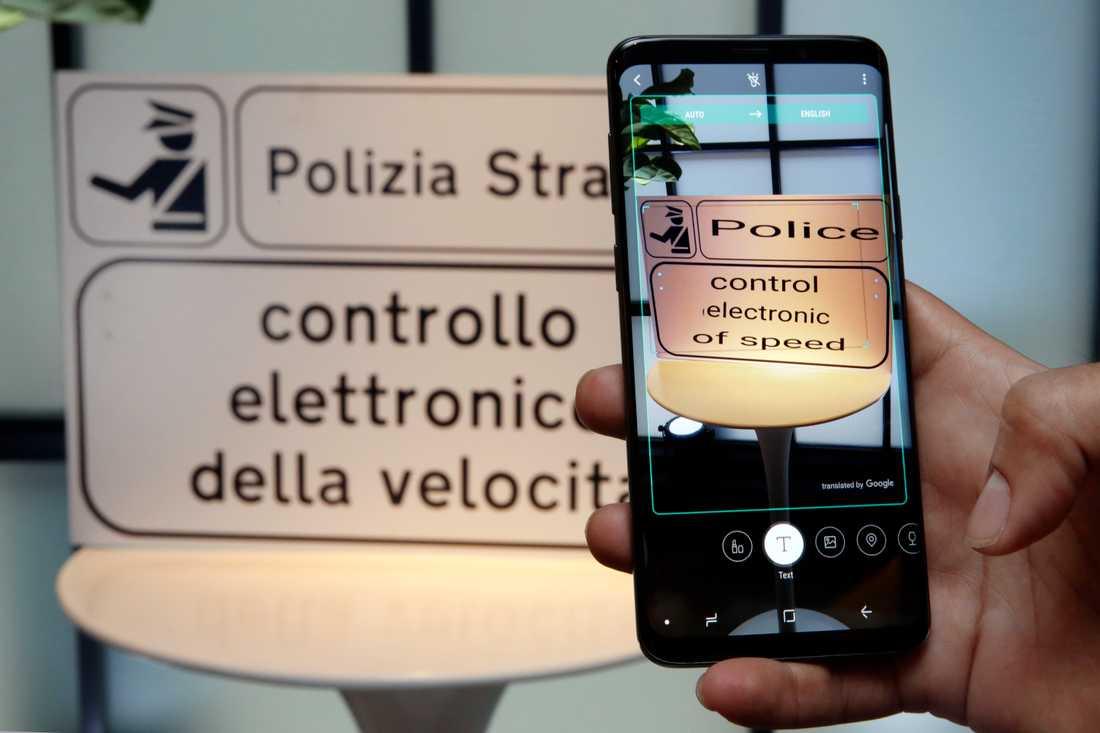 Kameran kan även fungera som översättningsverktyg.