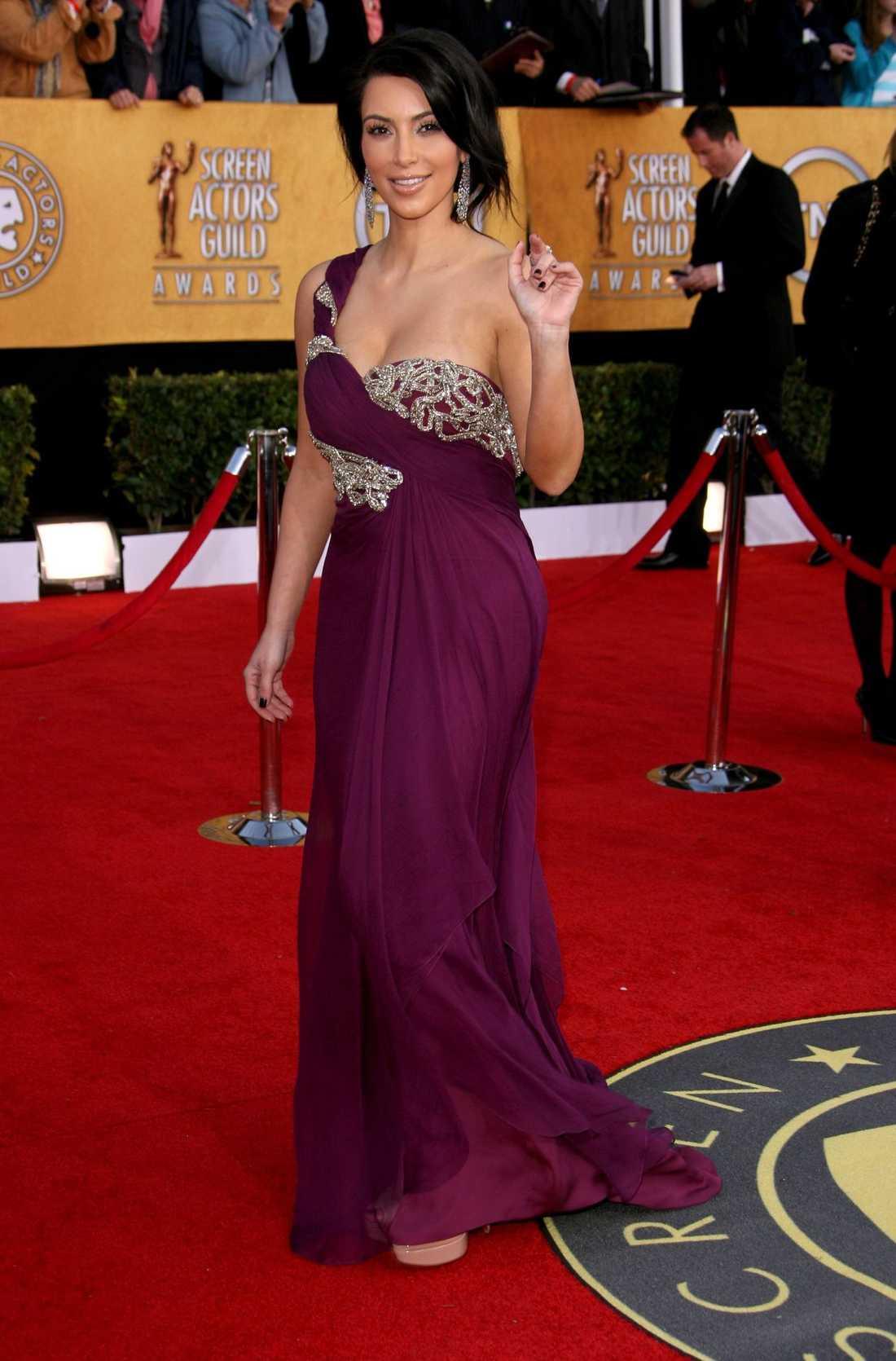 Kim på Golden Globe