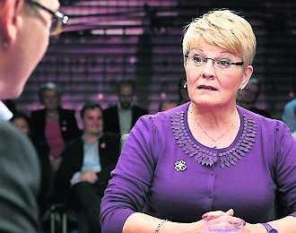 Maud Olofsson stängde dörren för en blocköverskridande regering i SVT:s utfrågning i går kväll.