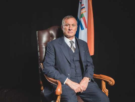 """Michael Nyqvist i """"Mandela – en kamp för frihet""""."""