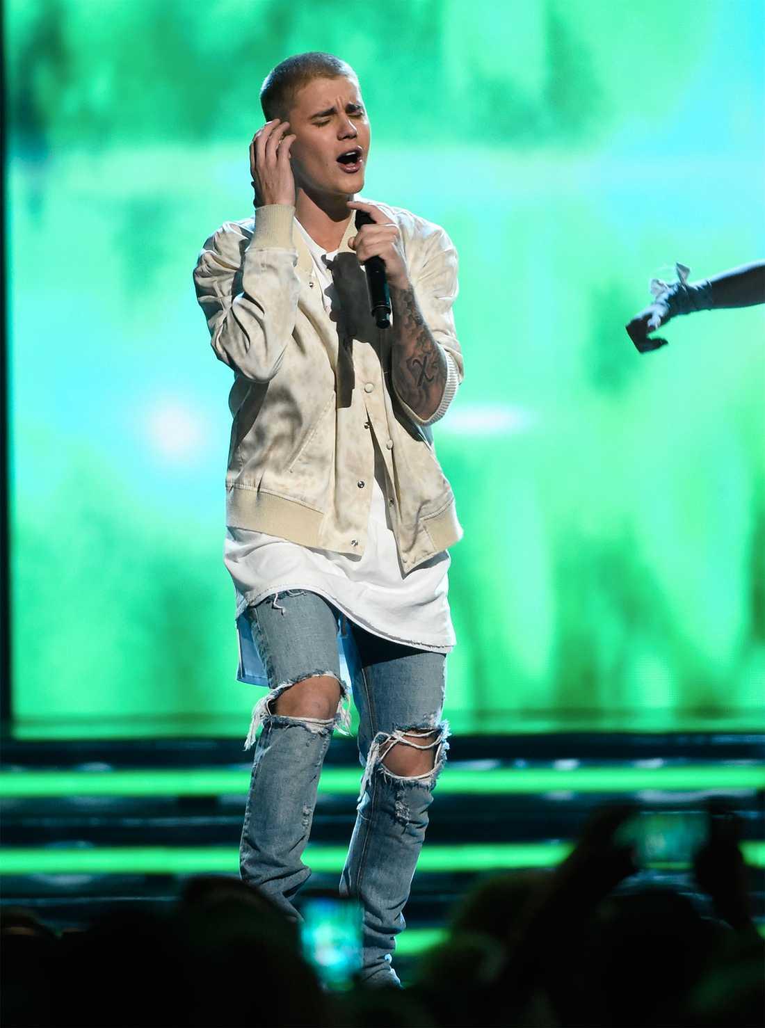Justin Bieber i ett mindre våldsamt sammanhang.